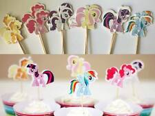 12 My Little Pony Cupcake Cake Jelly Toppers Pick Party Birthday Baby Decoration
