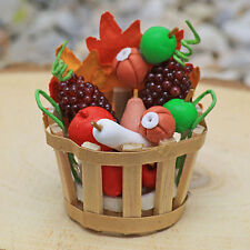 Harvest Basket ~ Autumn ~ Fruit Vegetable Basket ~ Fairy Garden Miniature