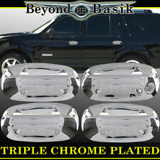 2003-2016 FORD EXPEDITION Triple Chrome Door Handle Covers W/Out Psgr Keyhole