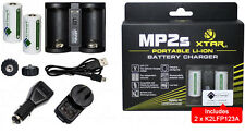 XTAR MP2s Li-Ion Battery charger with 2x K2 3.2V 600mAh Rechargeable CR123a