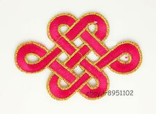 Chinese knot Embroidered Applique Patch Iron on Sew DIY Craft Clothes Decor ZN96