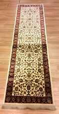 Cream RED Silk Like Traditional Persian Oriental Design Rug Runner 60x130cm -60%
