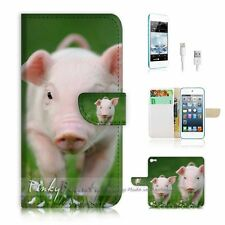 iPod Touch 5 iTouch 5 Flip Wallet Case Cover! P1784 Cute Pig