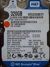 320 GB Western Digital WD3200BEVT-26A23T0 / HHCVJABB / AUG 2010 disque dur