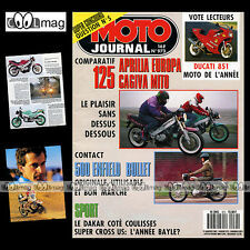 MOTO JOURNAL N°973 DUCATI 851 MIKE HAILWOOD PARIS-DAKAR 500 ENFIELD BULLET 1991