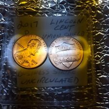 "(2) 2017 P Lincoln Cent Penny 225th Anniverary FIRST EVER ""P"" MINT MARK ON CENT"