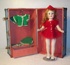 """Vintage American Character Sweet Sue Doll w/ Case Roller Skates 18"""" Unmarked"""