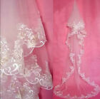Charming Elegant Cathedral Wedding Bridal Veil Chic Lace Edge Long Train 116""