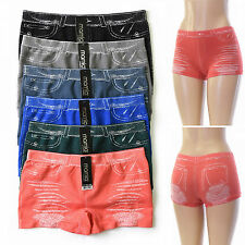 6 Pairs Womens Seamless Panties Boy Shorts Hot Pants Underwear Sexy JEANS Lot
