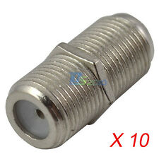 10pcs Durable F Type Female to Female RG6 F81 Coaxial Barrel Coax Couper Adapter