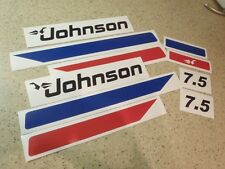 Johnson Vintage Outboard Motor 7.5 HP Decal Kit FREE SHIP + Free Fish Decal!