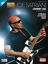 Joe Satriani Legendary Licks Play Andalusia Rock Pop GUITAR Music Book & CD