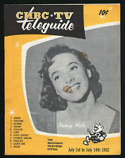 1962 Canada Teleguide Tv Guide~NANCY HALE~CRAIG STEVENS~PETER GUNN