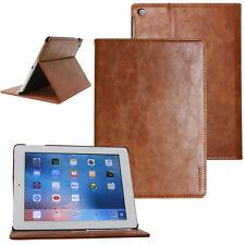 Kaiyue Leder Cover für Apple iPad Air 2 Schutz Hülle Tasche Tablet Case braun
