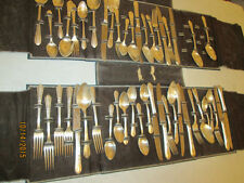 "Oneida Simeon L & George H Rogers Silverplate Flatware early1900""s 47 pcs + case"