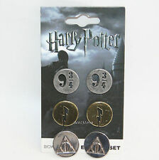 Harry Potter Deathly Hallows 9 3/4  Lightning Bolts 3PK Metal Stud Earrings NEW