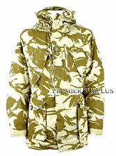 Genuine British Army ECW Desert Camo Windproof Smock, NEW, Large Long