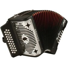 Hohner Panther 31-Key Diatonic Accordion Keys F Bb Eb Black Laquer Finish 3100FB