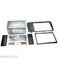 CT23VL01A VOLVO XC70 2004 to 2007 BLACK DOUBLE DIN FASCIA ADAPTER PANEL KIT