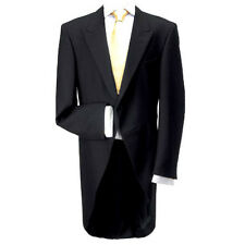 "100% Wool Traditional Black Morning Coat 50"" Regular - Made in the UK"