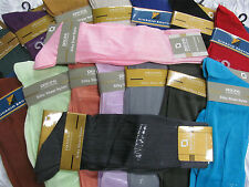 ASSORTMENT MENS SILKY SHEER NYLON MID CALF SOLID - RIBBED SOCKS 6 PAIRS NEW