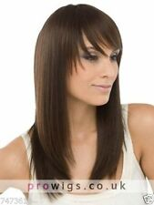 100% Real Hair Beautiful Capless Long Brown Straight Wig For Women Human Hair