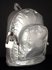 KIPLING SILVER METALLIC TRENT BACKPACK NWT
