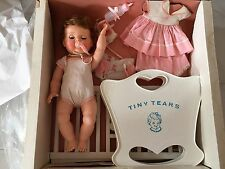 Rare Vintage Antique Tiny Tears Doll Gift Set Crib Rocker Accessories Play Book