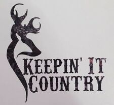 "Camo Keepin' It Country Truck Vinyl Decal 5"" Muddy Boy Girl Buck Deer Browning"