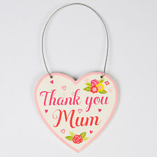 Thank You Mum Floral Heart Mini Plaque by Sass and Belle