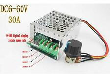 DC 6-60V 30A PWM Adjustable Speed Controller Voltage Regulator PWM With Display