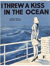 Irving Berlin-me lanzó un beso en el océano música Hoja 1942