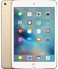 Apple iPad Mini 3 64GB Wi-Fi + 4G Cellular Gold / White Unlocked A1600 Brand New