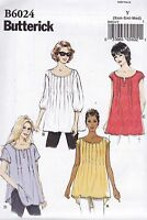 Butterick Easy Sewing Pattern Misses' Loose Fitting Pullover Top Sxm - Xxl B6024