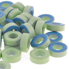50Pcs Pale Green Blue Iron Core Power Inductor Ferrite Rings AT44-52 LW
