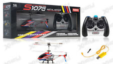 Syma 3 Channel S107G Mini Metal Indoor Co-Axial Helicopter  Gyro (Red) RC Remote