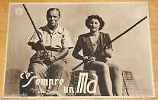 fotobusta film C'E' SEMPRE UN MA ! Carla Del Poggio Carlo Micheluzzi 1943