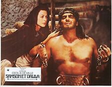 VICTOR MATURE HEDY LAMARR SAMSON AND DELILAH  1943 VINTAGE LOBBY CARD N°4