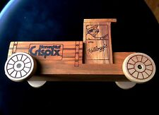 '86 Vntge Kelloggs HoneyNut Crispix Wooden Collectible Truck Advertisement Piece