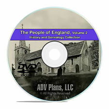 England Vol 2, People Cities Family History and Genealogy 218 Books DVD CD B32