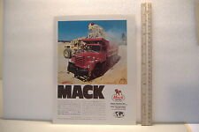 ~MACK TRUCKS /  KROMEX PISTON RING SET SEALED POWER~VINTAGE AD MOCK-UP~