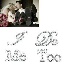 Creative White Clear Rhinestone Wedding Decor I Do Me Too Bridal Groom Stickers