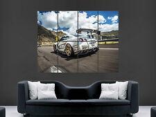 Nissan GTR Coche Rápido imagen grande gigante de carreras arte cartel impresión