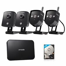 Zmodo 4CH NVR 720p HD Wireless IP Network Home Security Camera System 1TB HDD
