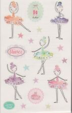 Mrs. Grossman's Giant Stickers - Fanciful Ballerinas - Ballet, Dance - 2 Strips
