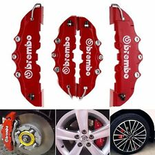 Red Disc Brake Caliper Covers Parts Front Rear Set 3D Universal Car Truck