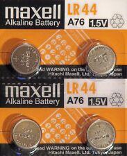 4 PILES LR44 / AG13 / A76 / 1,5V MAXELL / ENVOI RAPIDE
