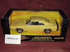 ERTL 1969 DODGE CHARGER R/T YELLOW/BLACK 1/18