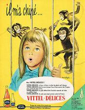 PUBLICITE ADVERTISING 014   1961  VITTEL-DELICES   soda