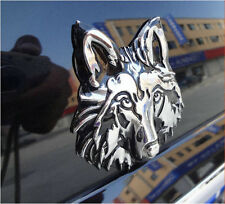 Wolf 3D Chrome Metal Auto Car Motorcycle Logo Sticker Badge Emblem Tail Decals